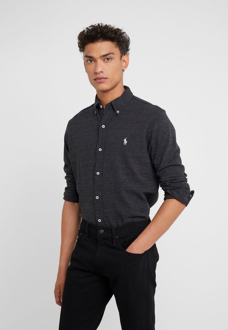 Polo Ralph Lauren - LONG SLEEVE - Skjorta - black marl heather