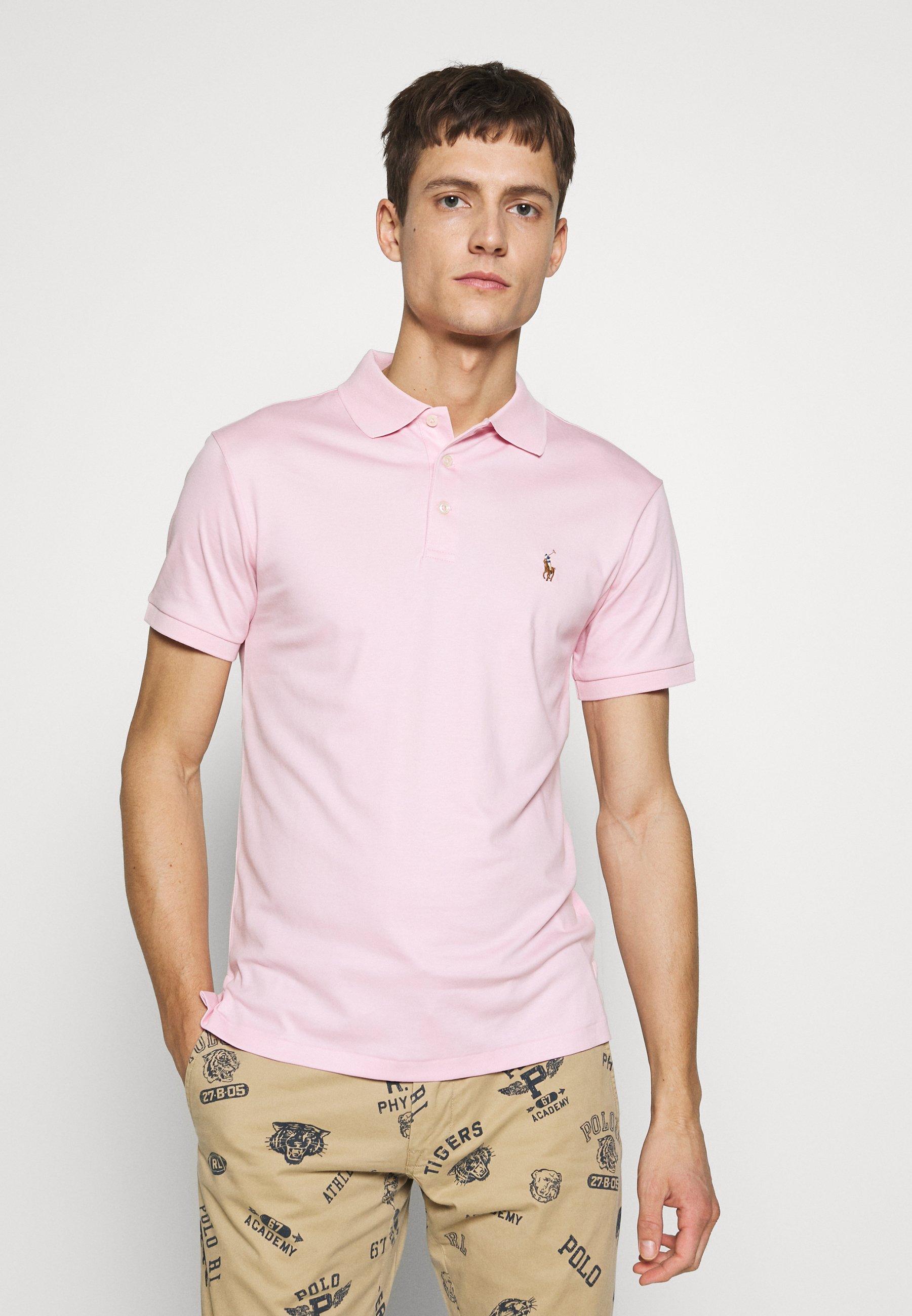 Różowe Ekskluzywne koszulki męskie znanych projektantów w