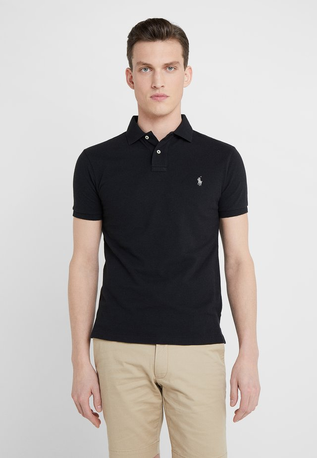 SLIM FIT - Polo - black