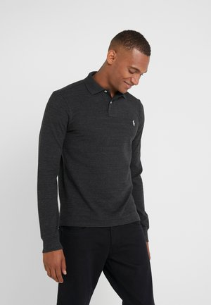 BASIC  - Polo - black marle heather