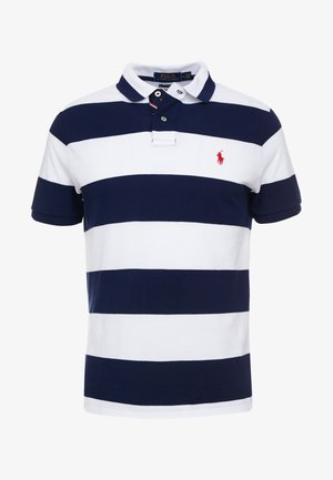 SLIM FIT - Polo shirt - white/newport navy