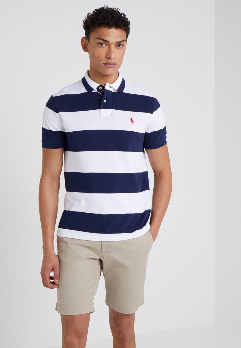 Polo Ralph Lauren - SLIM FIT - Polo shirt - white/newport navy