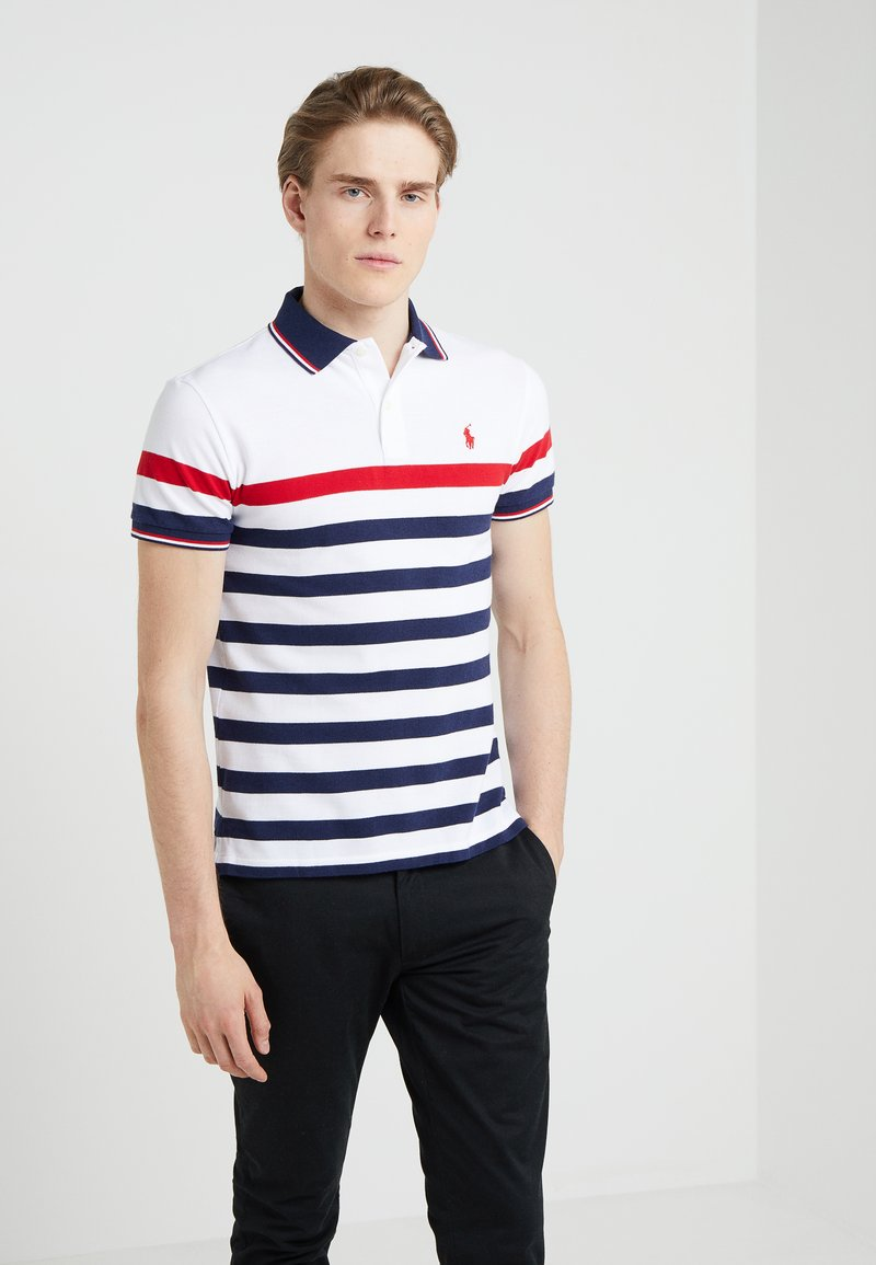Polo Ralph Lauren - BASIC SLIM FIT - Polo shirt - white/multi