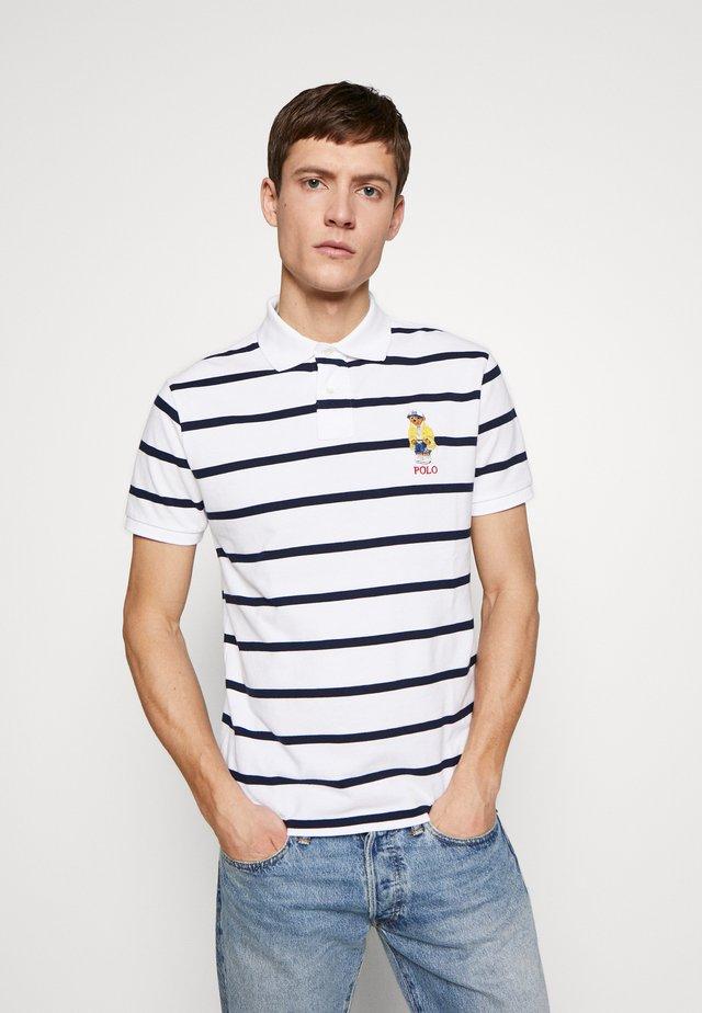 Poloshirt - white/cruise navy