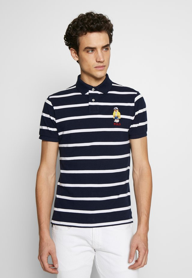 Polo shirt - cruise navy/white
