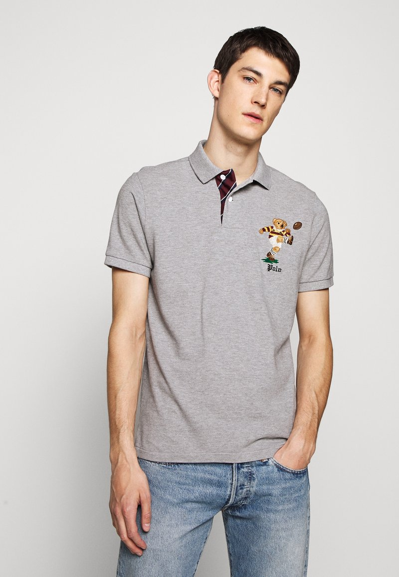 Polo Ralph Lauren - SHORT SLEEVE - Poloskjorter - mottled grey