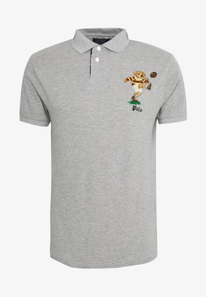 SHORT SLEEVE - Polo shirt - mottled grey