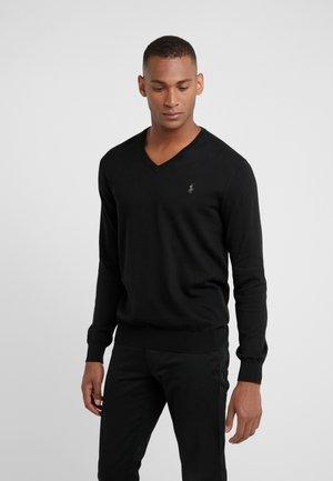 Strickpullover - polo black