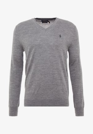 SLIM FIT - Sweter - fawn grey heather