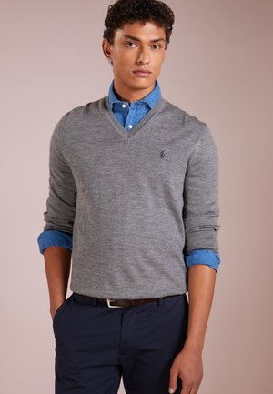SLIM FIT - Pullover - fawn grey heather