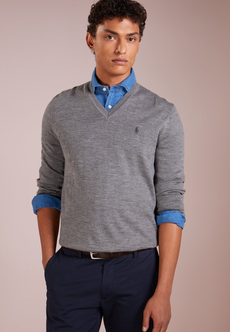 Polo Ralph Lauren - SLIM FIT - Strikkegenser - fawn grey heather