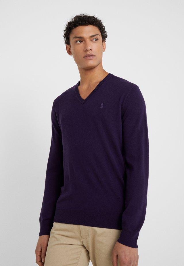 SLIM FIT - Jersey de punto - gothic purple