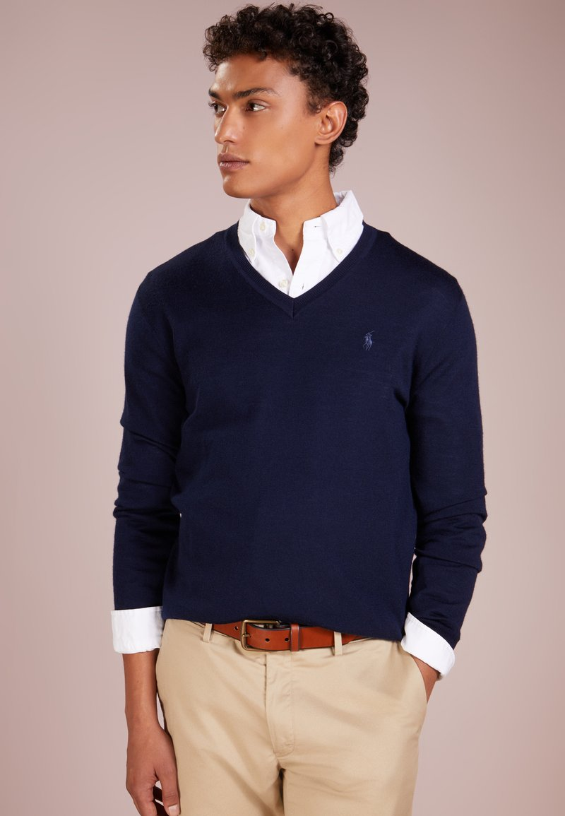 Polo Ralph Lauren - SLIM FIT - Strikpullover /Striktrøjer - hunter navy