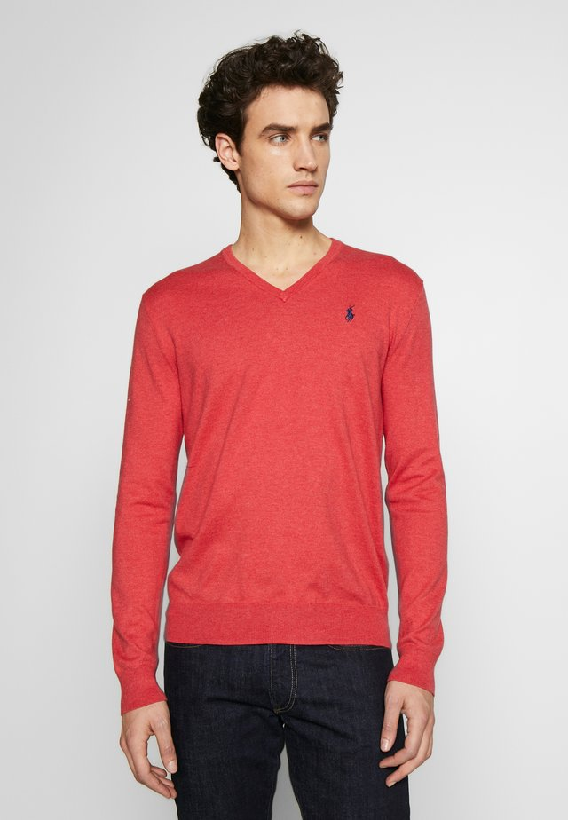 Pullover - rosette heather