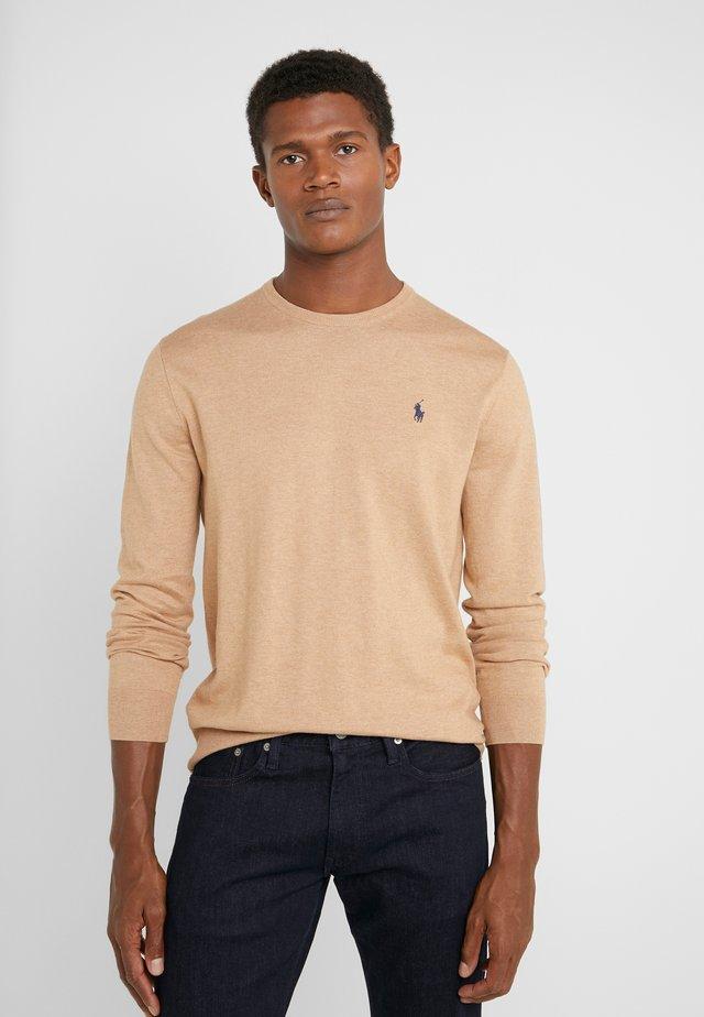 Jersey de punto - camel melange