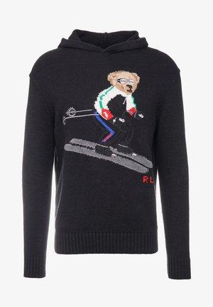 Mikina skapucí - black ski bear