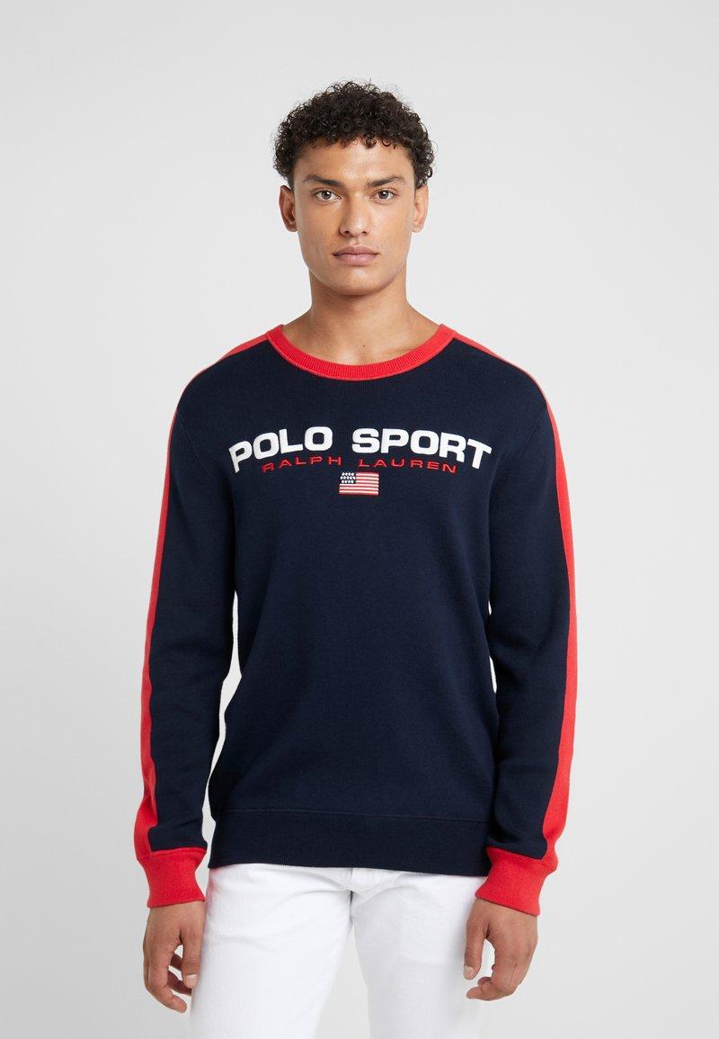 Polo Ralph Lauren - Stickad tröja - navy/red