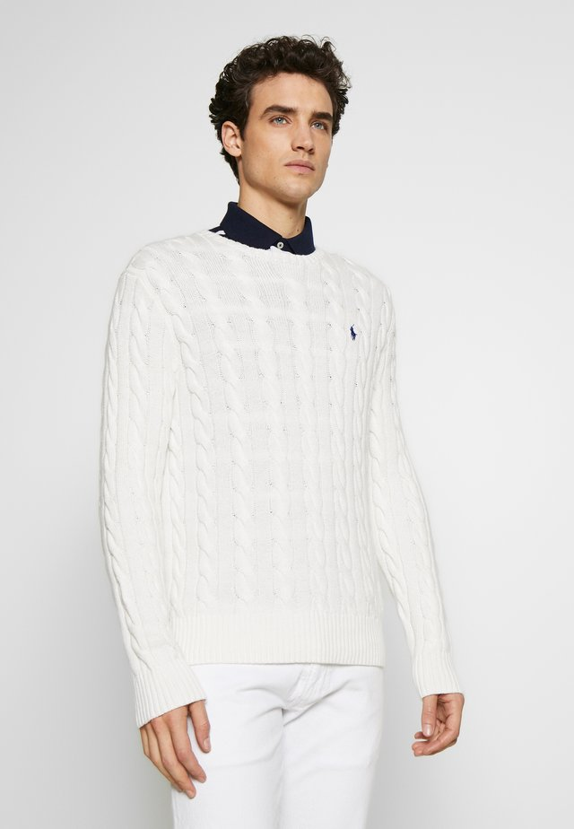 CABLE - Strickpullover - old white