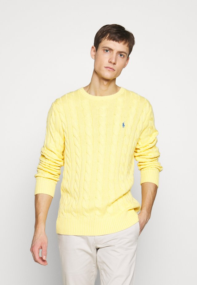 CABLE - Strickpullover - fall yellow