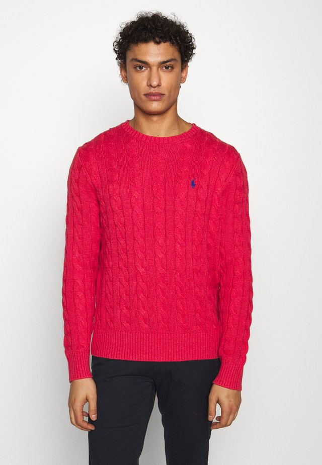 CABLE - Strickpullover - rosette heather