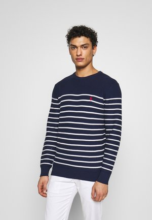Pullover - newport navy/white