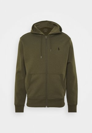 DOUBLE TECH - Cardigan - company olive