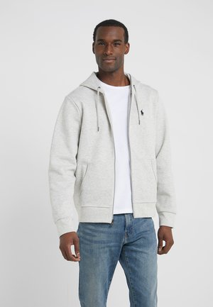 DOUBLE TECH HOOD - Felpa aperta - heather