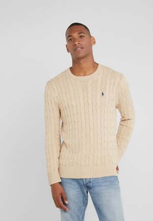Stickad tröja - oatmeal heather