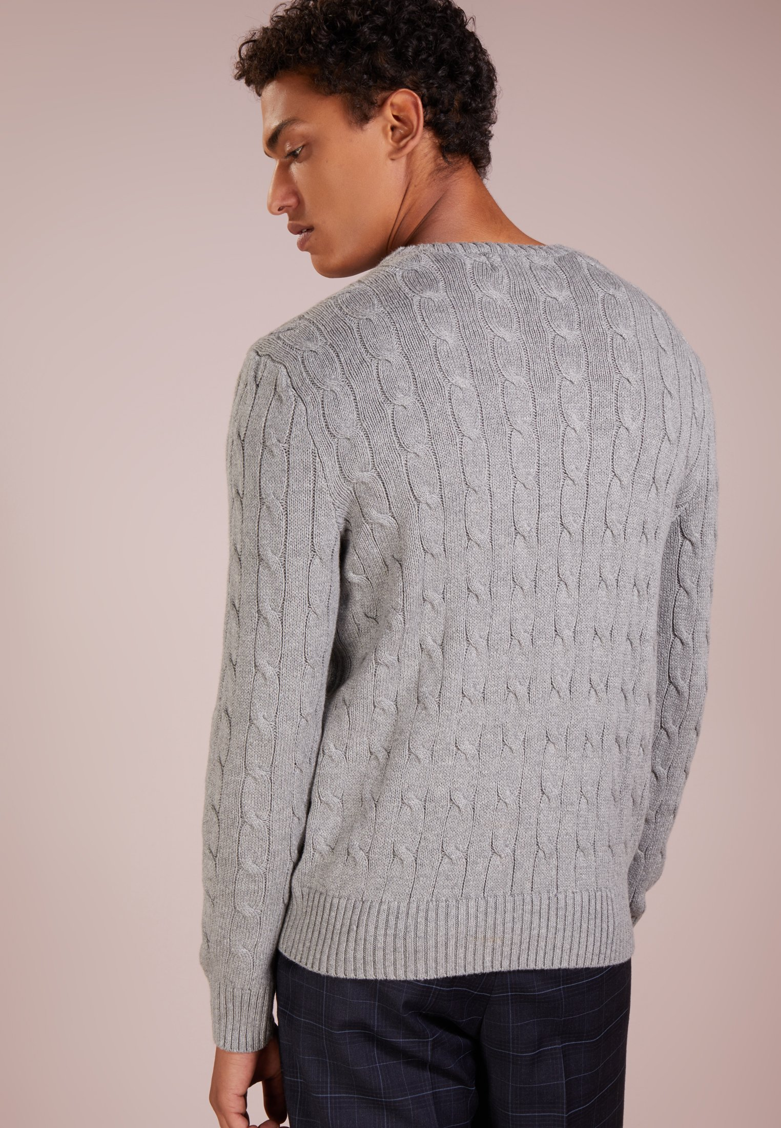 Pullover fawn grey heather