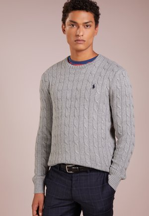 Svetr - fawn grey heather