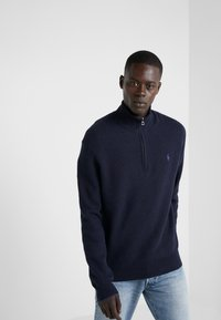 Polo Ralph Lauren - PIMA TEXTURE - Strikpullover /Striktrøjer - navy heather - 0