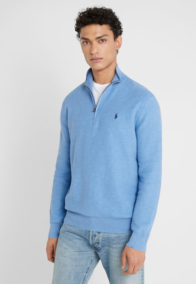 PIMA TEXTURE - Strickpullover - soft royal heather