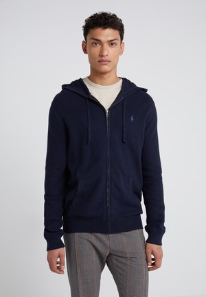 HOOD - Cardigan - navy heather