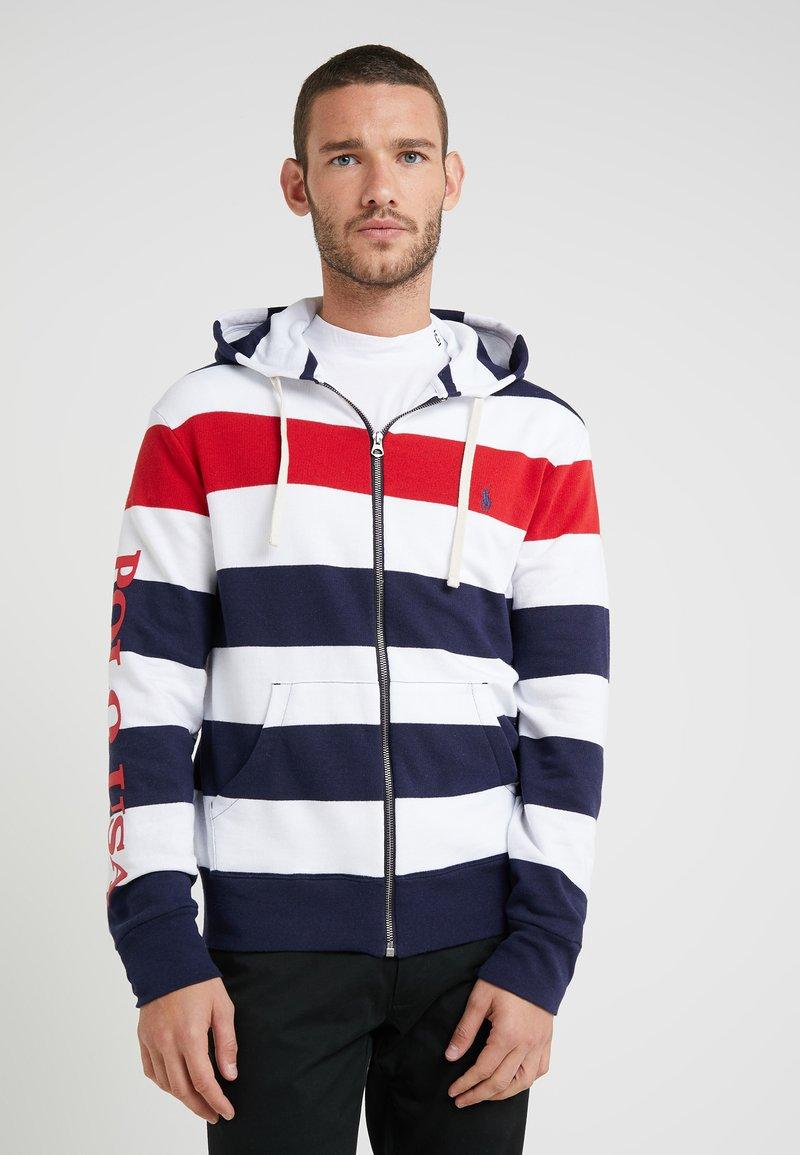 Polo Ralph Lauren - TERRY CLOTH - Sweatjacke - aviator navy/mult