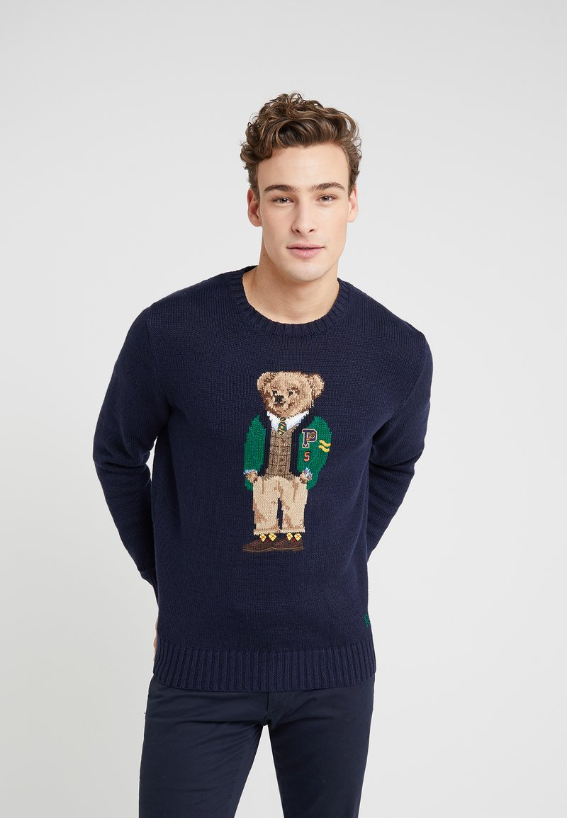 Polo Ralph Lauren - BLEND BEAR  - Strickpullover - navy yale bear