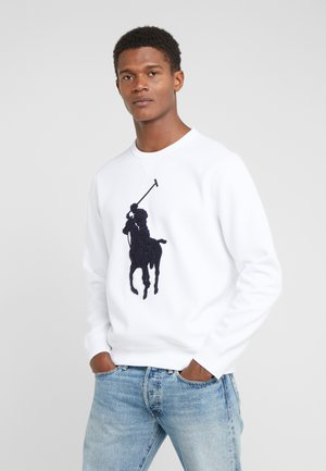 DOUBLE - Sweatshirt - white/navy