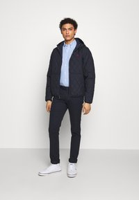 Polo Ralph Lauren - QUILTED HENSON HOODIE - Giacca da mezza stagione - college navy - 1