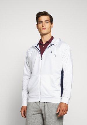 LONG SLEEVE - Zip-up hoodie - pure white