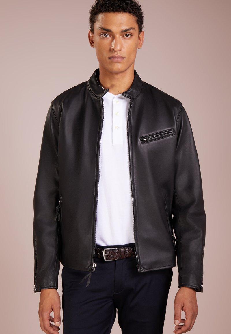 Polo Ralph Lauren - BROOKLANDS CAFE RACE - Leather jacket - black