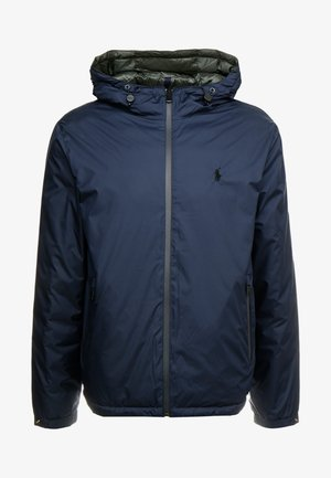 REVERSIBLE FILLED HOODIE - Veste légère - dark blue/anthrazit
