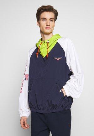 Lehká bunda - navy/ white