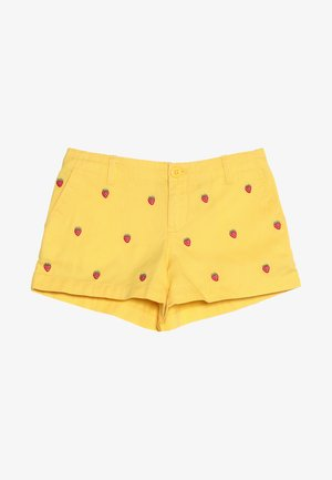 TISSUE SCHIFFLI  - Džínové kraťasy - signal yellow