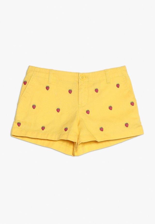 TISSUE SCHIFFLI  - Shorts vaqueros - signal yellow