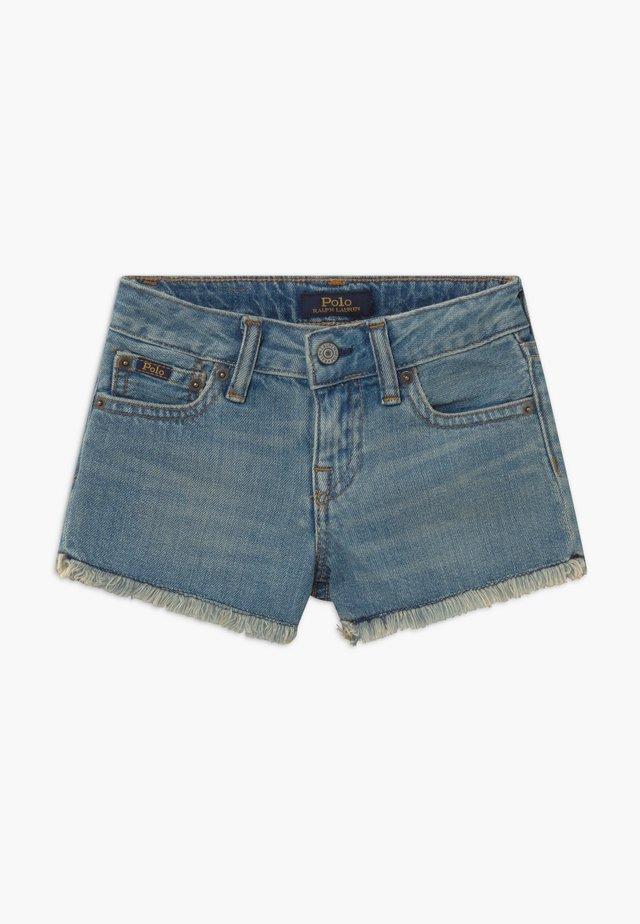 BOTTOMS - Shorts vaqueros - dark-blue denim