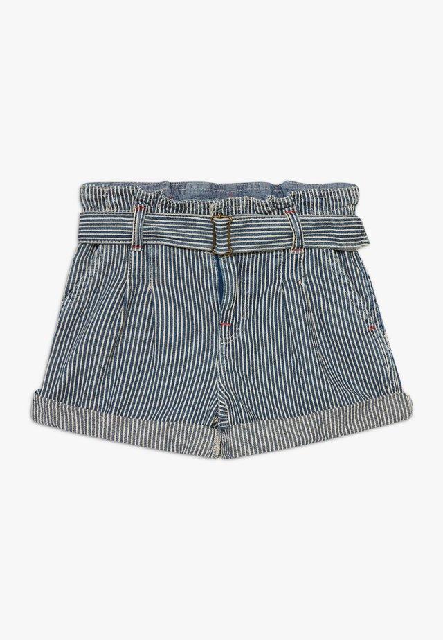 PAPERBAG BOTTOMS - Shorts - dark blue denim