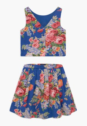 FLORAL SET - Áčková sukně - blue/multicolor