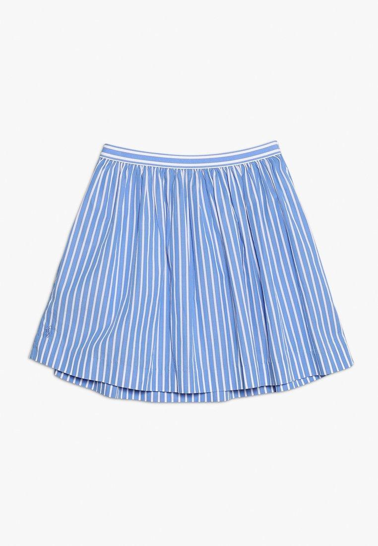Polo Ralph Lauren - SILKY FINISH SKIRT - Jupe trapèze - chopin blue/white