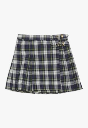 PLAID KILT BOTTOMS SKIRT - Wickelrock - navy/green/multi