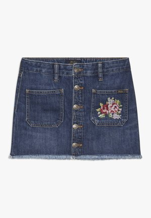 BUTTON SKIRT - Gonna di jeans - netty wash