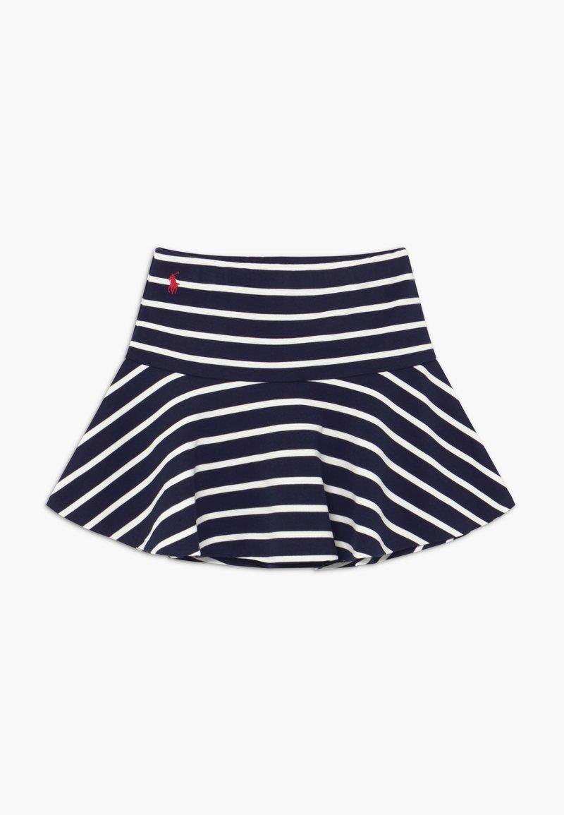 Polo Ralph Lauren - SCOOTER  SKIRT - Falda acampanada - hunter navy clubhouse cream